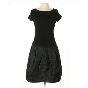 Lida Baday Dress Black Contrast Skirt Size 10